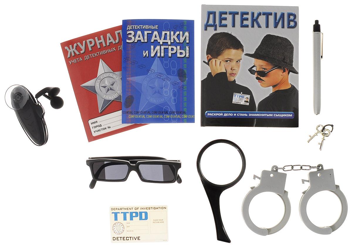 Top That! Игровой набор Чемодан детектива00000128Настоящие детективы для получения информации пользуются самыми современными техническими приспособлениями. Игровой набор Чемодан детектива включает в себя журнал учета детективных дел, детективные загадки и игры, книгу Детектив, удостоверение детектива, лупу, подслушивающее устройство, очки для заднего наблюдения, ручку-фонарик, наручники и 2 ключика к ним. Этот набор для тех, кто мечтает о приключениях, кому снятся детективные расследования, и в чьем воображении существует реальный мир шпионских страстей. Устройство для подслушивания имеет компактный дизайн и наушники. Характеристики: Материал: пластик, бумага. Размер лупы: 7 см x 7 см x 15 см. Размер очков: 13,5 см x 3,5 см x 14 см. Размер чемодана: 32,5 см x 22,5 см x 6 см. Изготовитель: Китай. Для работы подслушивающего устройства необходимо докупить 2 батареи мощностью 1,5V типа AA (не входят в комплект).