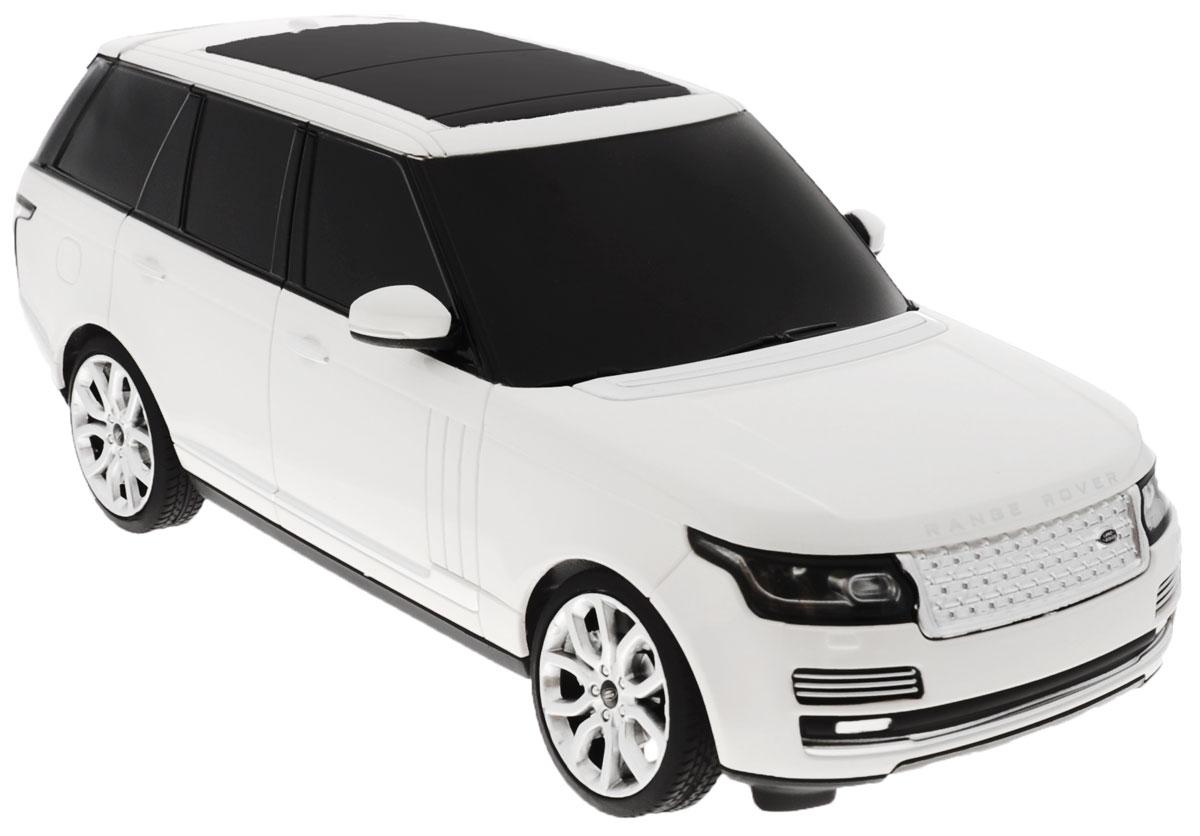 Rastar Радиоуправляемая модель Range Rover цвет белый48500Радиоуправляемая модель Rastar Range Rover станет отличным подарком любому мальчику! Все дети хотят иметь в наборе своих игрушек ослепительные, невероятные и крутые автомобили на радиоуправлении. Тем более, если это автомобиль известной марки с проработкой всех деталей, удивляющий приятным качеством и видом. Одной из таких моделей является автомобиль на радиоуправлении Rastar Range Rover. Это точная копия настоящего авто в масштабе 1:24. Возможные движения: вперед, назад, вправо, влево, остановка. Имеются световые эффекты. Пульт управления работает на частоте 40 MHz. Для работы игрушки необходимы 3 батарейки типа АА (не входят в комплект). Для работы пульта управления необходимы 2 батарейки типа АА (не входят в комплект).