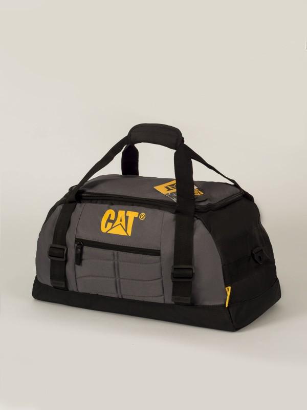 Сумка дорожная Caterpillar Michael, цвет: сиренево-серый, черный, 35 л80023-172Стильная дорожная сумка Caterpillar Michael выполнена из полиэстера и оформлена логотипом бренда. Сумка имеет одно основное отделение, которое закрывается на застежку-молнию с откидной крышкой. Внутри имеется пришивной карман на застежке-молнии. Снаружи, на передней стенке расположен прорезной карман на застежке-молнии. Сумка оснащена двумя удобными ручками. В комплект входит съемный текстильный плечевой ремень, который регулируется по длине. Дорожная сумка Caterpillar Michael - это стильная и очень практичная сумка, вы можете использовать ее как повседневно, так и во время путешествий.