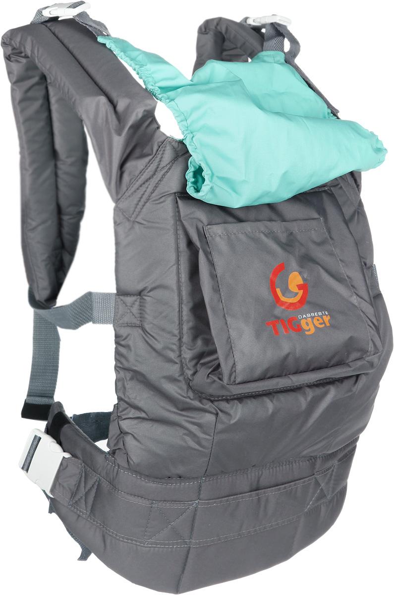 TIGger Слинг-рюкзак Tigger с капюшоном цвет серый бирюзовый1107.04_серый, бирюзовыйСлинг-рюкзак TIGger Tigger - многофункциональная, практичная и удобная переноска для ношения ребенка от 4 месяцев. Благодаря слингу-рюкзаку, вы сможете всюду быть рядом с малышом, не отвлекаясь от важных дел. Слинг-рюкзак TIGger Tigger обеспечивает физиологически правильное положение ребенка и является безопасным для переноски детей. Высокая спинка удобна и комфортна для различного возраста. Простая и удобная регулировка лямок обеспечивает удобство использования. Регулируемый пояс для поддержки спины родителя и широкие лямки с набивкой снижают нагрузку на спину. На спинке рюкзака имеется большой карман для необходимых мелочей. Удобный капюшон, защищающий от ветра и осадков, компктно скручивается и фиксируется. Также на рюкзаке имеется соединительная стропа для быстрого одевания и безопасной посадки ребенка. Натуральные безопасные материалы предотвращают раздражение кожи малыша. Три положения: к себе, на бедре, за спиной. Рекомендуется использовать с 4-х месяцев,...