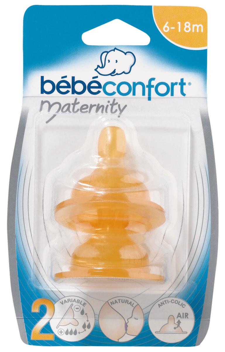 Bebe Confort Соска Maternity S2 латекс 6-24 месяцев 2 шт