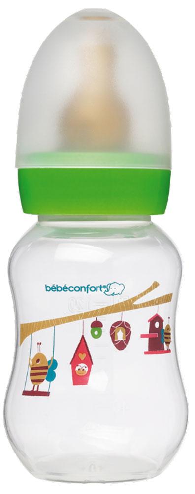 Bebe Confort Бутылочка пластик CLASSIC 120 мл, л/с, 0-6 м, цв, S1