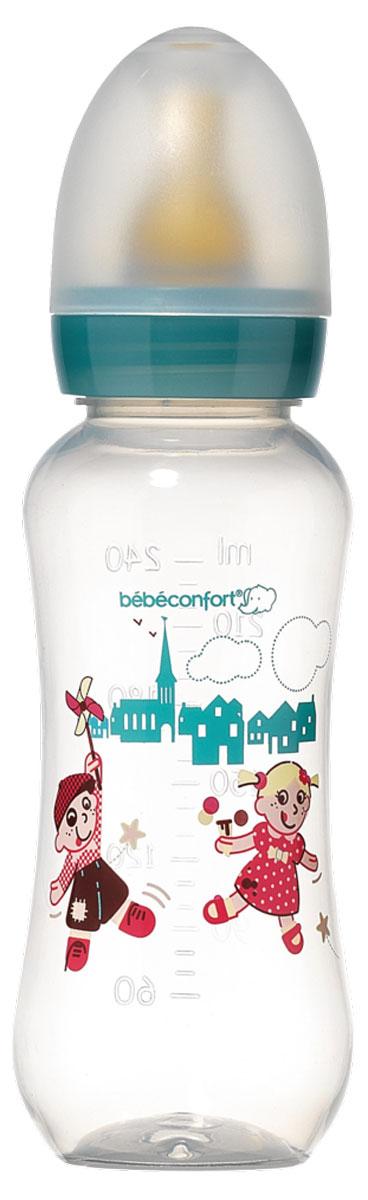 Bebe Confort Бутылочка пластик CLASSIC 240 мл, л/с, 0-12 м, цв, S1