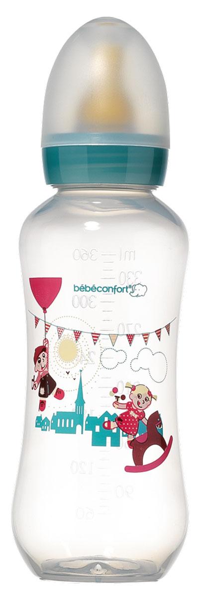 Bebe Confort Бутылочка пластик CLASSIC 360 мл, л/с, 6-24 м, цв, S2