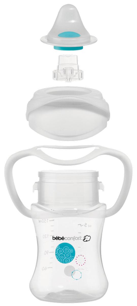 Bebe Confort Бутылочка-поильник EasyClip 150мл. 6+мес.30000858Поильник-бутылочка, непроливайка(цвет белый) EASY CLIP 150 мл. 6+ мес.