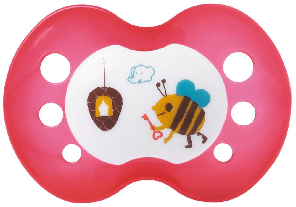 Bebe Confort Пустышка Classic силиконовая от 0 до 6 месяцев цвет красный 2 шт