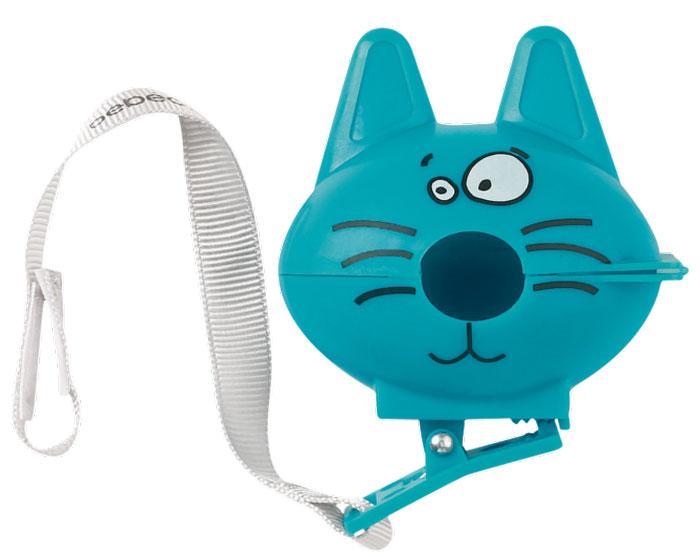 Bebe Confort Футляр-клипса для пустышки Котик30001170Футляр защитный с клипсой и лентой на липучке для пустышки КОТ 2 цвета: голубой и красный