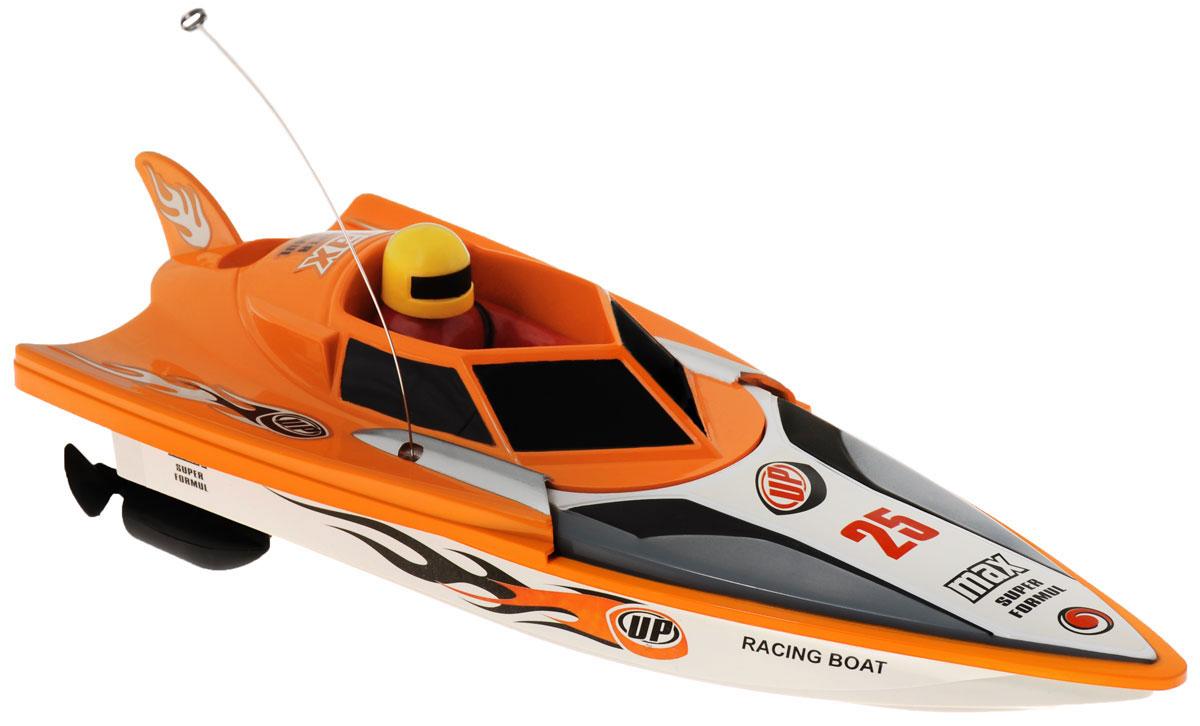 LK-Toys Катер на радиоуправлении Чемпионат Max Super FormulBM 5003Радиоуправляемый гоночный катер LK-Toys Чемпионат: Max Super Formul - необычная водная игрушка, которая понравится и детям, и взрослым. Игрушечный спортивный катер изготовлен из прочного и качественного пластика, что успешно позволяет сделать конструкцию корпуса максимально обтекаемой, а также защитить от попадания воды все внутренние компоненты. Управление обеспечивается при помощи специального пульта дистанционного управления, который позволяет без проблем контролировать модель на расстояниях до 30 метров. Функции управления: вперед, назад, вправо, влево. Радиоуправляемый гоночный катер LK-Toys Чемпионат: Max Super Formul обеспечит многие часы увлекательных игр на воде! В комплекте 2 запасных винта. Пульт управления работает на частоте 27 MHz. Для работы игрушки необходимы 4 батарейки типа АА (не входят в комплект). Для работы пульта управления необходимы 2 батарейки типа АА (не входят в комплект).