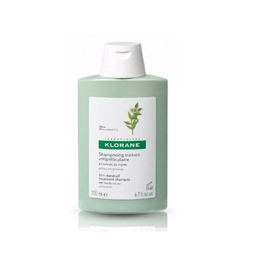 Klorane Шампунь Dandruff с экстрактом Мирта от жирной перхоти 200млC00740Эффективно устраняет жирную перхоть. Оздоравливает кожу головы благодаря противогрибковому и противозудному действию. Регулирует выработку себума Эффективно устраняет перхоть. Регулирует выработку себума.