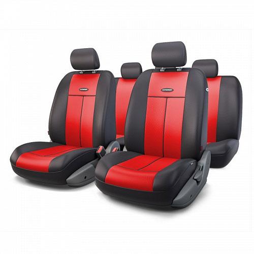 Авточехлы Autoprofi TT, цвет: черный, красный, 9 предметов. TT-902P BK/RDTT-902P BK/RDАвтомобильные чехлы Autoprofi TT изготавливаются из высококачественного полиэстера со вставками из поролона, обеспечивающего сцепление с сиденьем. Мягкие чехлы являются отличным дополнением салона любого автомобиля. Изделия придают автомобильному интерьеру современные и солидные черты. Универсальная конструкция подходит для большинства автомобильных сидений. Подходят для автомобилей с боковыми подушками безопасности (распускаемый шов). Специальные молнии, расположенные в чехлах спинки заднего ряда, позволяют использовать чехлы на автомобилях с различными пропорциями складывания заднего ряда. Комплектация: 5 подголовников, 2 чехла сидений переднего ряда, 1 спинка заднего ряда, 1 сиденье заднего ряда.