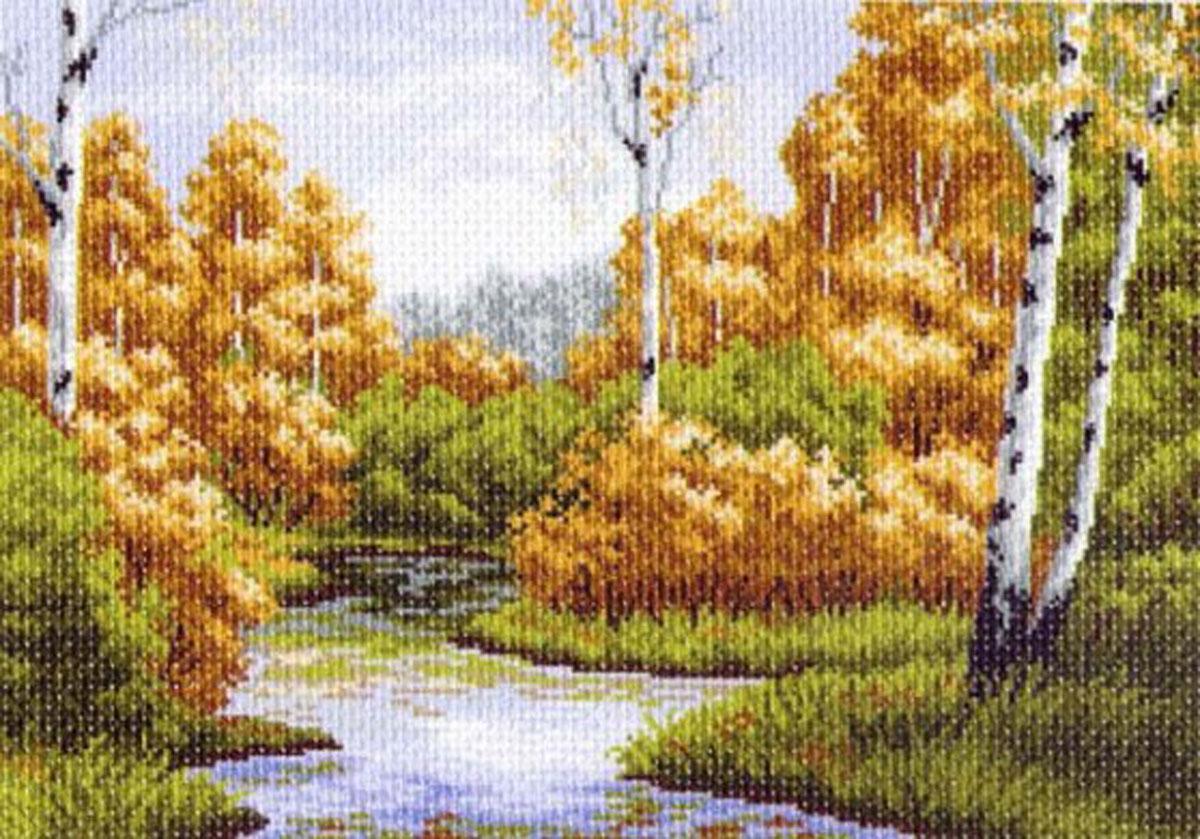 Канва с рисунком для вышивания Осенняя заводь, 38,5 см х 26,7 см549901Канва с рисунком Осенняя заводь изготовлена из хлопка, которая поможет вам создать свой личный шедевр - красивую вышитую картину. Вышивка выполняется в технике полный крестик в 2-3 нити или полукрестом в 4 нити. На полях рисунка указаны цветовая палитра и предполагаемый метраж ниток для вышивки. Вышивание отвлечет вас от повседневных забот и превратится в увлекательное занятие! Работа, сделанная своими руками, создаст особый уют и атмосферу в доме и долгие годы будет радовать вас и ваших близких. Рекомендуемое количество цветов: 18. Размер готового рисунка: 38,5 см х 26,7 см. Нитки в комплект не входят.