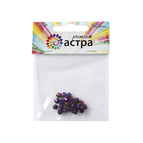 Бусины Астра Premium, цвет: фиолетовый (4), 6 мм х 6 мм, 20 шт7712143_4-фиолетовыйНабор бусин Астра Premium, изготовленный из стекла, позволит вам своими руками создать оригинальные ожерелья, бусы или браслеты. Граненые бусины имеют два отверстия для продевания нитки или лески. Изготовление украшений - занимательное хобби и реализация творческих способностей рукодельницы, это возможность создания неповторимого индивидуального подарка. Размер бусины: 6 мм х 6 мм.