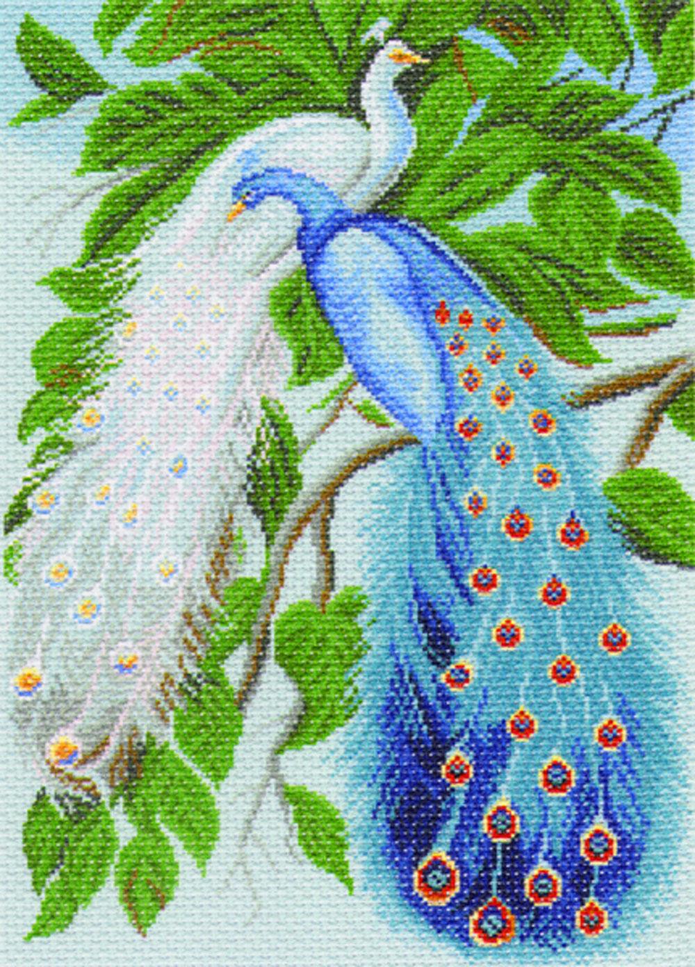 Канва с рисунком для вышивания Павлины, 39 х 27,5 см549902Канва с рисунком Павлины изготовлена из хлопка, которая поможет вам создать свой личный шедевр - красивую вышитую картину. Вышивка выполняется в технике полный крестик в 2-3 нити или полукрестом в 4 нити. На полях рисунка указаны цветовая палитра и предполагаемый метраж ниток для вышивки. Вышивание отвлечет вас от повседневных забот и превратится в увлекательное занятие! Работа, сделанная своими руками, создаст особый уют и атмосферу в доме и долгие годы будет радовать вас и ваших близких. Рекомендуемое количество цветов: 25. Размер готового рисунка: 39 см х 27,5 см. Нитки в комплект не входят.