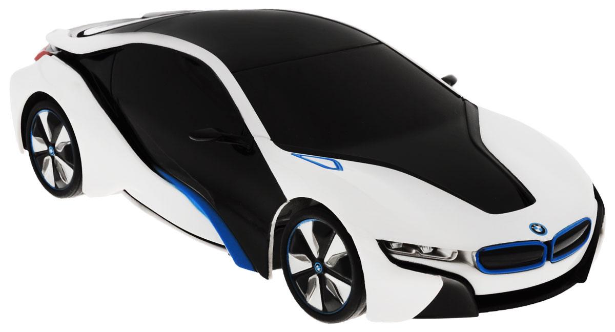 Rastar Радиоуправляемая модель BMW i8 цвет черный белый масштаб 1:2448400Радиоуправляемая модель Rastar BMW I8 станет отличным подарком любому мальчику! Все дети хотят иметь в наборе своих игрушек ослепительные, невероятные и крутые автомобили на радиоуправлении. Тем более, если это автомобиль известной марки с проработкой всех деталей, удивляющий приятным качеством и видом. Одной из таких моделей является автомобиль на радиоуправлении Rastar BMW I8. Это точная копия настоящего авто в масштабе 1:24. Авто обладает неповторимым провокационным стилем и спортивным характером. Потрясающая маневренность, динамика и покладистость - отличительные качества этой модели. Возможные движения: вперед, назад, вправо, влево, остановка. Имеются световые эффекты. Пульт управления работает на частоте 27 MHz. Для работы игрушки необходимы 3 батарейки типа АА (не входят в комплект). Для работы пульта управления необходимы 2 батарейки типа АА (не входят в комплект).