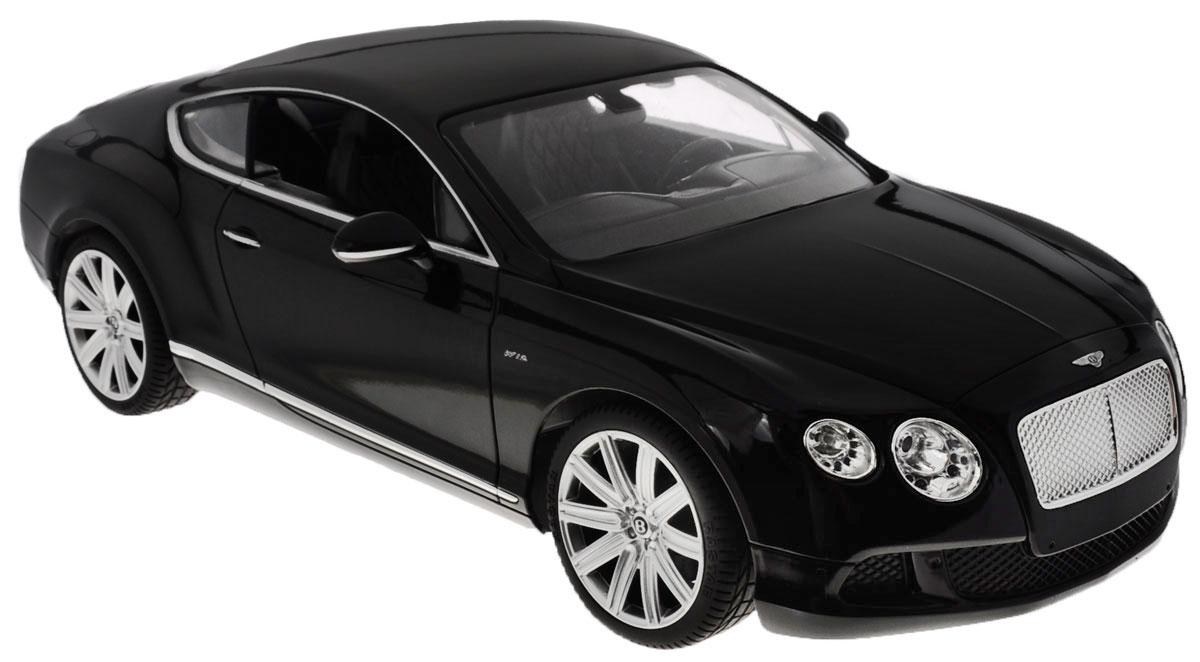 Rastar Радиоуправляемая модель Bentley Continental GT Speed цвет черный масштаб 1:1449800Радиоуправляемая модель Rastar Bentley Continental GT Speed станет отличным подарком любому мальчику! Все дети хотят иметь в наборе своих игрушек ослепительные, невероятные и крутые автомобили на радиоуправлении. Тем более, если это автомобиль известной марки с проработкой всех деталей, удивляющий приятным качеством и видом. Одной из таких моделей является автомобиль на радиоуправлении Rastar Bentley Continental GT Speed. Это точная копия настоящего авто в масштабе 1:14. Возможные движения: вперед, назад, вправо, влево, остановка. Имеются световые эффекты. Пульт управления работает на частоте 27 MHz. Для работы игрушки необходимы 5 батареек типа АА (не входят в комплект). Для работы пульта управления необходима 1 батарейка 9V (6F22) (не входит в комплект).