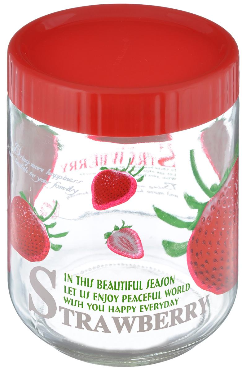 Банка для сыпучих продуктов Lilac Клубника, 1,2 лLLSE71200_красный, клубникаБанка Lilac Клубника, изготовленная из стекла, снабжена пластиковой крышкой, которая плотно и герметично закрывается, дольше сохраняя аромат и свежесть содержимого. Банка подходит для хранения сыпучих продуктов: круп, специй, сахара, соли и многого другого. Такая банка станет полезным приобретением и пригодится на любой кухне. Диаметр (по верхнему краю): 10,5 см. Высота: 16 см.