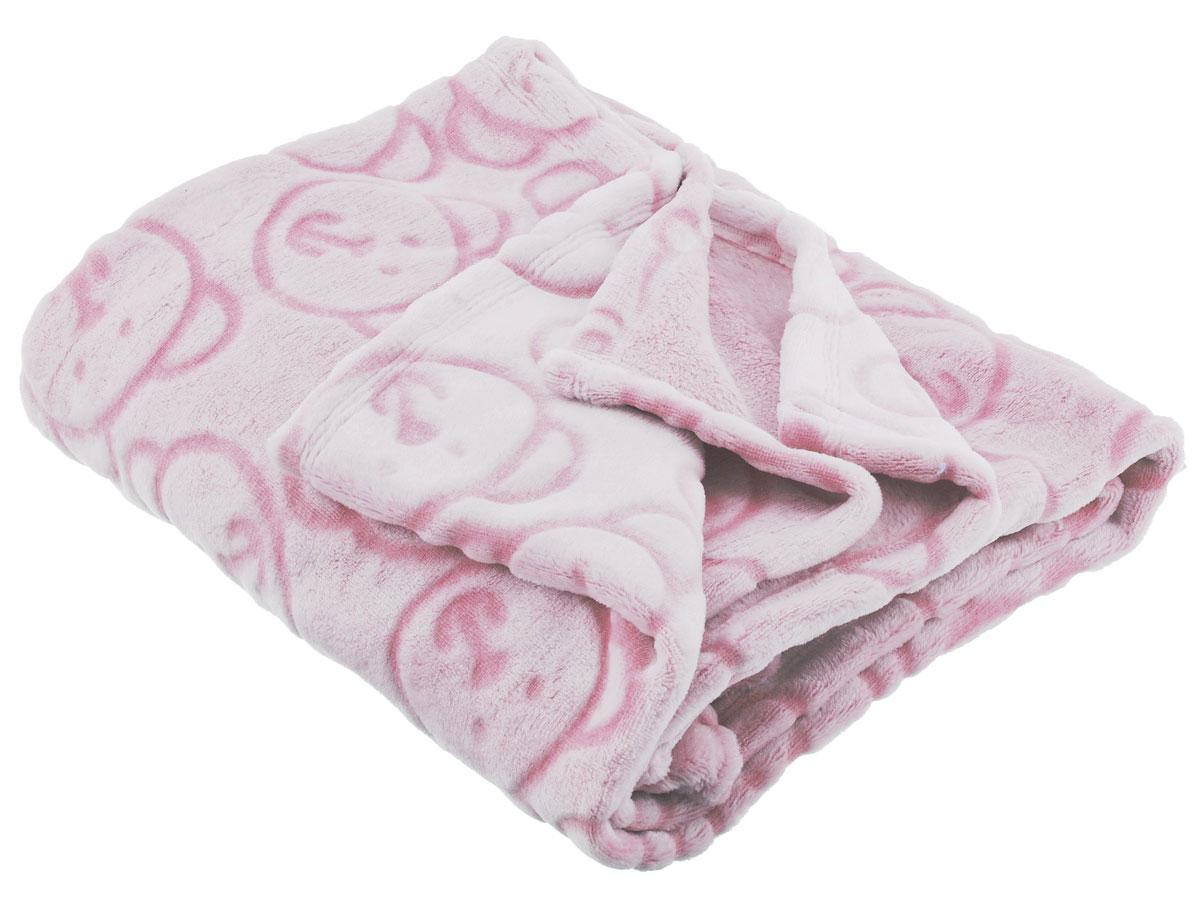Baby Nice Детский плед-покрывало Micro Velour цвет розовый 100 см х 140 см