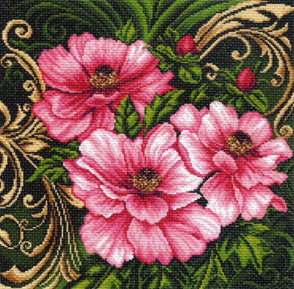 Канва с рисунком для вышивания Царские пионы, 33,8 см х 33,9 см551178Канва с рисунком Царские пионы изготовлена из хлопка, которая поможет вам создать свой личный шедевр - красивую вышитую картину. Вышивка выполняется в технике полный крестик в 2-3 нити или полукрестом в 4 нити. На полях рисунка указаны цветовая палитра и предполагаемый метраж ниток для вышивки. Вышивание отвлечет вас от повседневных забот и превратится в увлекательное занятие! Работа, сделанная своими руками, создаст особый уют и атмосферу в доме и долгие годы будет радовать вас и ваших близких. Рекомендуемое количество цветов: 17. Размер готового рисунка: 33,8 см х 33,9 см. Нитки в комплект не входят.
