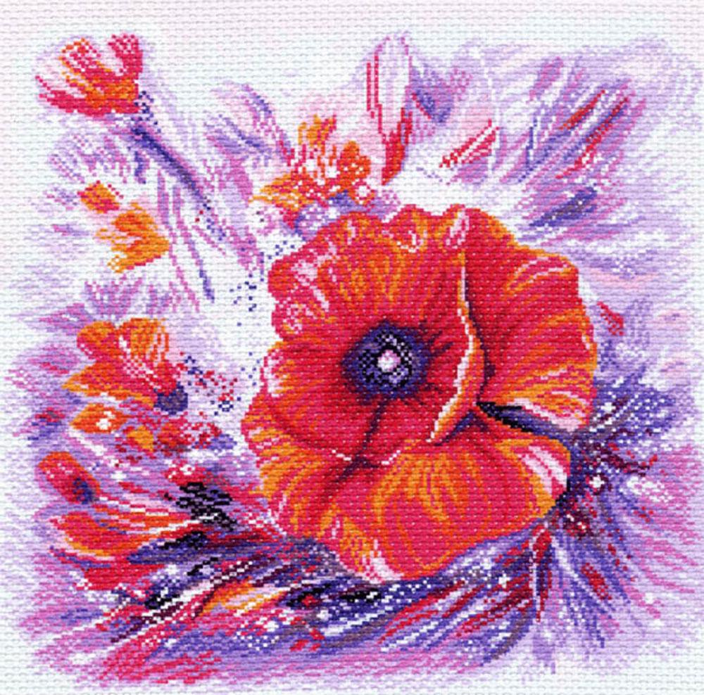 Канва с рисунком для вышивания Мак, 34 см х 33,8 см551165Канва с рисунком Мак изготовлена из хлопка, которая поможет вам создать свой личный шедевр - красивую вышитую картину. Вышивка выполняется в технике полный крестик в 2-3 нити или полукрестом в 4 нити. На полях рисунка указаны цветовая палитра и предполагаемый метраж ниток для вышивки. Вышивание отвлечет вас от повседневных забот и превратится в увлекательное занятие! Работа, сделанная своими руками, создаст особый уют и атмосферу в доме и долгие годы будет радовать вас и ваших близких. Рекомендуемое количество цветов: 17. Размер готового рисунка: 34 см х 33,8 см. Нитки в комплект не входят.