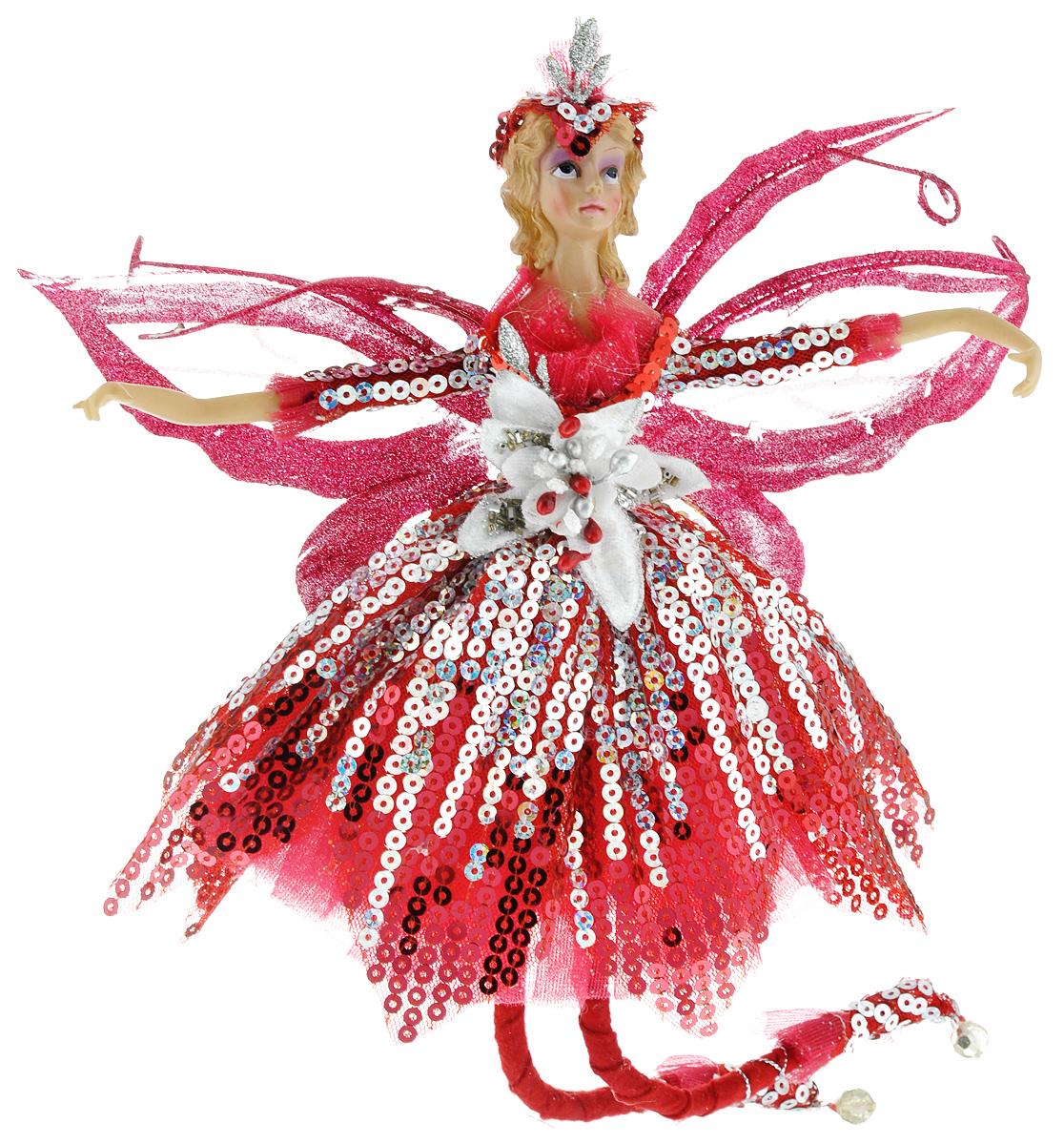 Новогоднее подвесное украшение Sima-land Фея, цвет: бордовый, высота 39 см685908/380-24Новогоднее украшение Sima-land Фея отлично подойдет для декорации вашего дома и новогодней ели. Игрушка выполнена из полистоуна в виде феи, декорированной блестками и пайетками. Украшение оснащено петелькой для подвешивания. Елочная игрушка - символ Нового года. Она несет в себе волшебство и красоту праздника. Создайте в своем доме атмосферу веселья и радости, украшая всей семьей новогоднюю елку нарядными игрушками, которые будут из года в год накапливать теплоту воспоминаний.