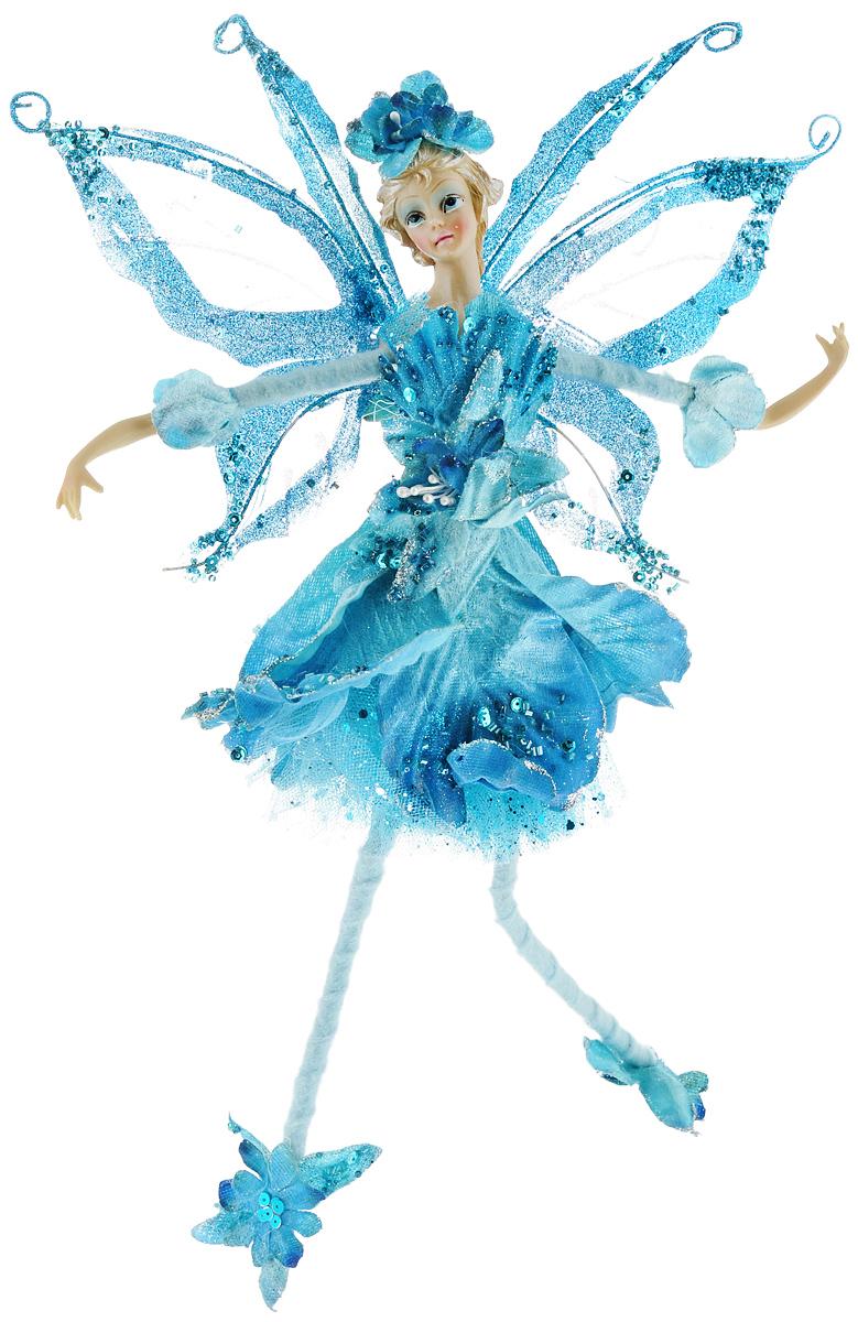 Новогоднее подвесное украшение Sima-land Фея, цвет: голубой, высота 40 см685907Новогоднее украшение Sima-land Фея отлично подойдет для декорации вашего дома и новогодней ели. Игрушка выполнена из полистоуна в виде феи, декорированной блестками, пайетками и стеклярусом. Украшение оснащено петелькой для подвешивания. Елочная игрушка - символ Нового года. Она несет в себе волшебство и красоту праздника. Создайте в своем доме атмосферу веселья и радости, украшая всей семьей новогоднюю елку нарядными игрушками, которые будут из года в год накапливать теплоту воспоминаний.