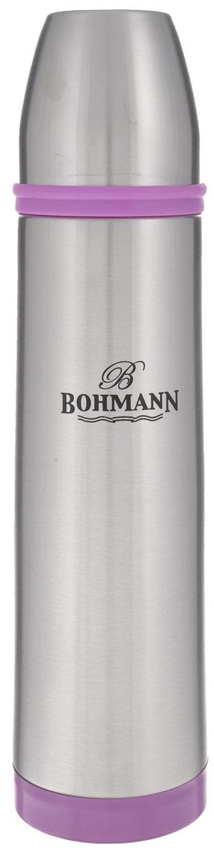 Термос Bohmann, 1 л. 4492BHNEW, цвет в ассортименте4492BHNEWТермос Bohmann, изготовленный из высококачественной нержавеющей стали 18/10, является простым в использовании, экономичным и многофункциональным. Изделие оснащено двойными стенками, удобной ручкой, крышкой-чашкой и чехлом. Термос предназначен для хранения горячих и холодных напитков (чая, кофе) и укомплектован вакуумной крышкой с кнопкой. Такая крышка удобна в использовании. Она препятствует проливанию жидкости и позволяет, не отвинчивая ее, наливать напитки после простого нажатия. Легкий и прочный термос Bohmann сохранит ваши напитки горячими или холодными надолго.