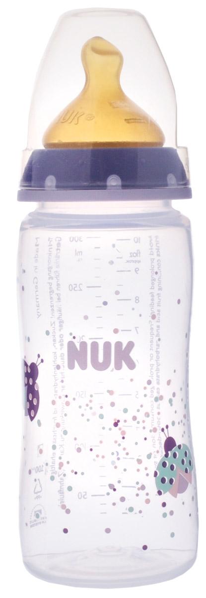 NUK Бутылочка для кормления First Choice c латексной соской от 0 до 6 месяцев 300 мл цвет сиреневый