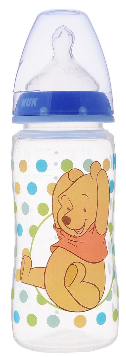NUK Бутылочка для кормления Disney с силиконовой соской от 0 до 6 месяцев 300 мл цвет синий