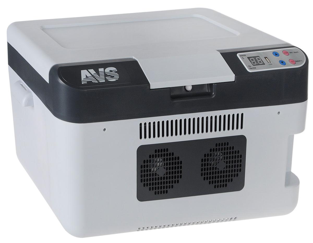 Холодильник автомобильный AVS CC-24WBC, 24 лA80972SАвтомобильный термоконтейнер AVS CC-24WBC - это незаменимый аксессуар для всех автомобилистов, которые долгое время проводят в дороге. Позволяет сохранить продукты и напитки, которые вы собираетесь взять в дальнюю поездку. Автомобильный холодильник изготовлен из высокопрочной пластмассы. Вся изоляция выполнена из экологически чистых материалов. Устройство холодильника позволяет переключаться в режим нагрева с увеличением температуры внутри камеры до +65°С. Работает без компрессора и имеет встроенный контроль за состоянием аккумулятора автомобиля. Плотно прилегающая и фиксируемая крышка позволяет использовать холодильник с наибольшим КПД. Мощность в режиме охлаждения: 66 Вт. Мощность в режиме нагрева: 54 Вт. Максимальное охлаждение: 22-25°С от температуры окружающей среды. Максимальный нагрев: до +65°С. USB порт: 1 А.