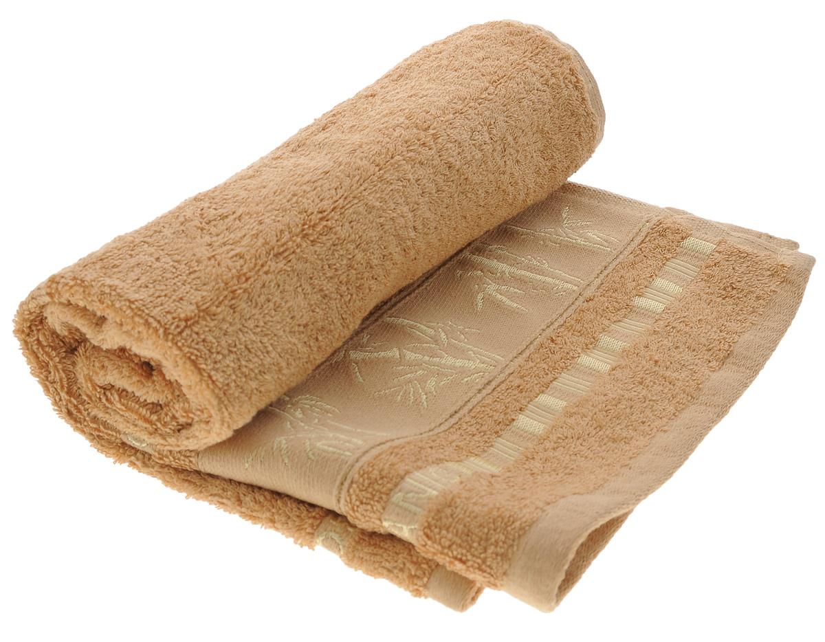 Полотенце Mariposa Bamboo, цвет: светло-коричневый, 50 х 90 см62339Полотенце Mariposa Bamboo, изготовленное из 60% бамбука и 40% хлопка, подарит массу положительных эмоций и приятных ощущений. Бамбук - инновация в текстильном производстве с потрясающими характеристиками. Бамбук - самый жизнеспособный природный ресурс, он растет без пестицидов и химикатов. Бамбуковое волокно с натуральным блеском мягче самого мягкого хлопка и по качеству напоминает шелк и кашемир. Ткань из бамбука обладает натуральными антимикробными свойствами и не нуждается в специальной химической обработке. Ткань содержит компонент Bamboo Kun, предотвращающий размножение бактерий. Полотенца из бамбука только издали похожи на обычные. На самом деле, при первом же прикосновении вы ощутите невероятную мягкость и шелковистость. Таким полотенцем не нужно вытираться - только коснитесь кожи - и ткань сама все впитает! Несмотря на богатую плотность и высокую петлю, оно быстро сохнет, остается легким даже при намокании. Полотенце оформлено изображением...