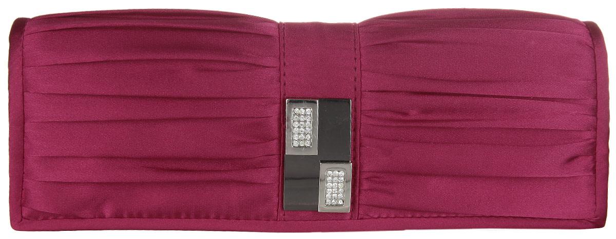 Сумка вечерняя Fabretti, цвет: бордовый. W10264W10264-redЭлегантная сумка Fabretti выполнена из полиэстера. Изделие закрывается клапаном на застежку-кнопку. Клапан оформлен оригинальными складками и металлической деталью со стразами. Внутри - одно большое отделение и один накладной карман. Ручка выполнена в виде оригинальной цепочки.