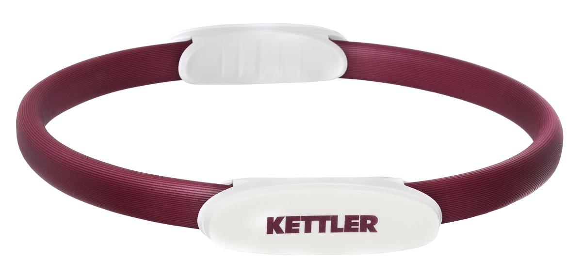 Обруч для пилатеса Kettler, цвет: бордовый, жемчужно-белый, 38 см7351-540Обруч для пилатеса Kettler предназначен для тренировки мышц рук, ног и грудных мышц. Удобная анатомическая форма упоров способствует комфортной тренировке. Обруч имеет рельефное мягкое покрытие.