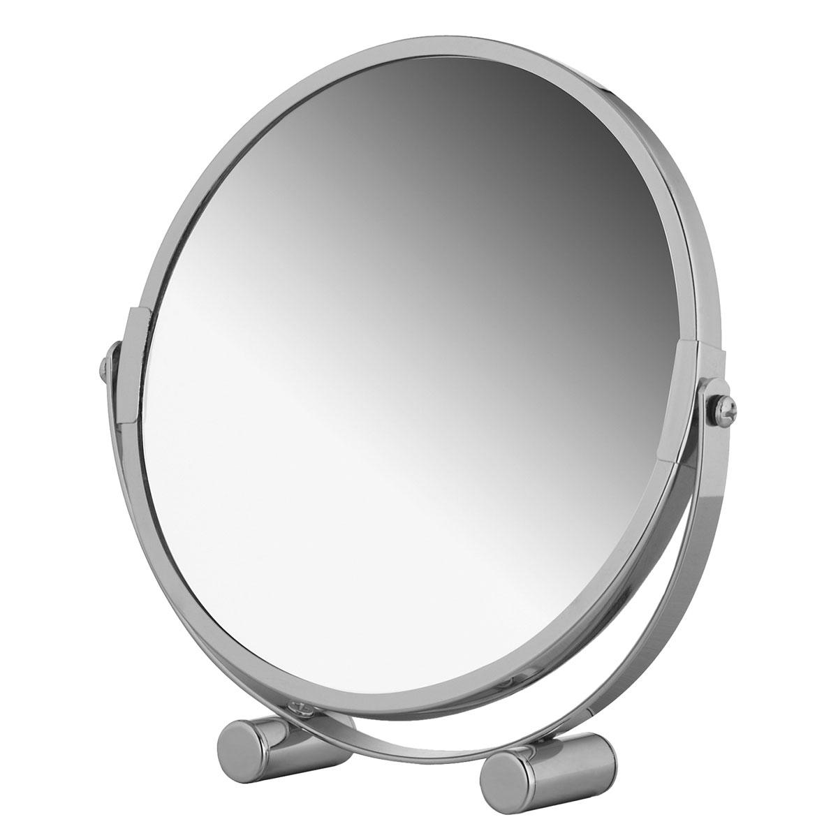 Зеркало двухстороннее Tatkraft Eos, настольное, диаметр 17 см11656Двухстороннее настольное зеркало Tatkraft Eos с увеличением с одной стороны отлично подойдет для нанесения макияжа и проведения процедур по уходу за кожей лица. Зеркало диаметром 17 см изготовлено из хромированной стали и имеет 2-х кратное увеличение. Компактный размер позволяет брать зеркало с собой в поездки.