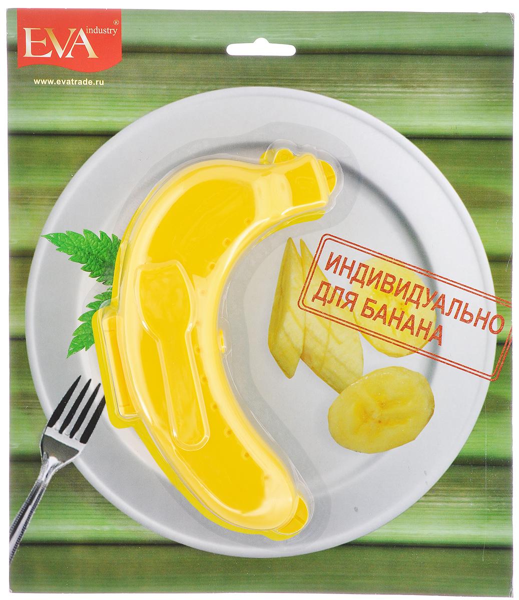 Контейнер для банана Eva, цвет: желтыйЕС-011_желтыйКонтейнер для банана Eva, изготовленный из прочного пластика, уникальное полезное приобретение для тех, кто перекусывает на бегу, а также для мам, которые собирают своим детям обеды в школу. Такой чехол прекрасно подойдет для переноса фрукта в сумке, предотвращает его деформацию, сохраняя его вкусовые качества.
