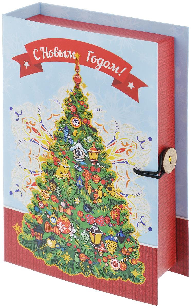 Подарочная коробка Феникс-Презент Новогодняя елка, 18 х 12 х 5 см39267Подарочная коробка Феникс-Презент Новогодняя елка выполнена из плотного картона. Крышка оформлена ярким изображением новогодней елки и надписью С Новым годом!. Коробка закрывается на пуговицу. Подарочная коробка - это наилучшее решение, если вы хотите порадовать ваших близких и создать праздничное настроение, ведь подарок, преподнесенный в оригинальной упаковке, всегда будет самым эффектным и запоминающимся. Окружите близких людей вниманием и заботой, вручив презент в нарядном, праздничном оформлении.