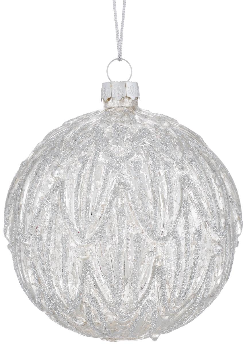 Новогоднее подвесное украшение Феникс-презент Морозное утро, диаметр 8 см38408Новогоднее подвесное украшение Феникс-презент Морозное утро прекрасно подойдет для праздничного декора новогодней ели. Изделие выполнено из высококачественного стекла. Для удобного размещения на елке на украшении предусмотрена петелька. Елочная игрушка - символ Нового года. Она несет в себе волшебство и красоту праздника. Создайте в своем доме атмосферу веселья и радости, украшая новогоднюю елку нарядными игрушками, которые будут из года в год накапливать теплоту воспоминаний. Откройте для себя удивительный мир сказок и грез. Почувствуйте волшебные минуты ожидания праздника, создайте новогоднее настроение вашим дорогим и близким.