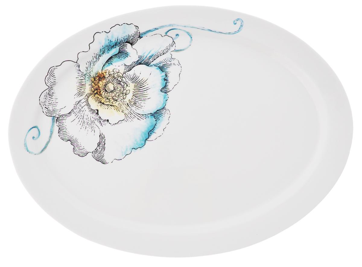 Блюдо овальное Fitz and Floyd Цветок, 38,5 х 28,5 см20-210Овальное блюдо Fitz and Floyd Цветок изготовлено из высококачественной керамики и декорировано изящным рисунком. Такое оригинальное блюдо идеально подойдет для красивой сервировки стола. Рекомендуется мыть вручную с использованием неабразивных моющих средств. Размер блюда: 38,5 см х 28,5 см х 2,6 см.