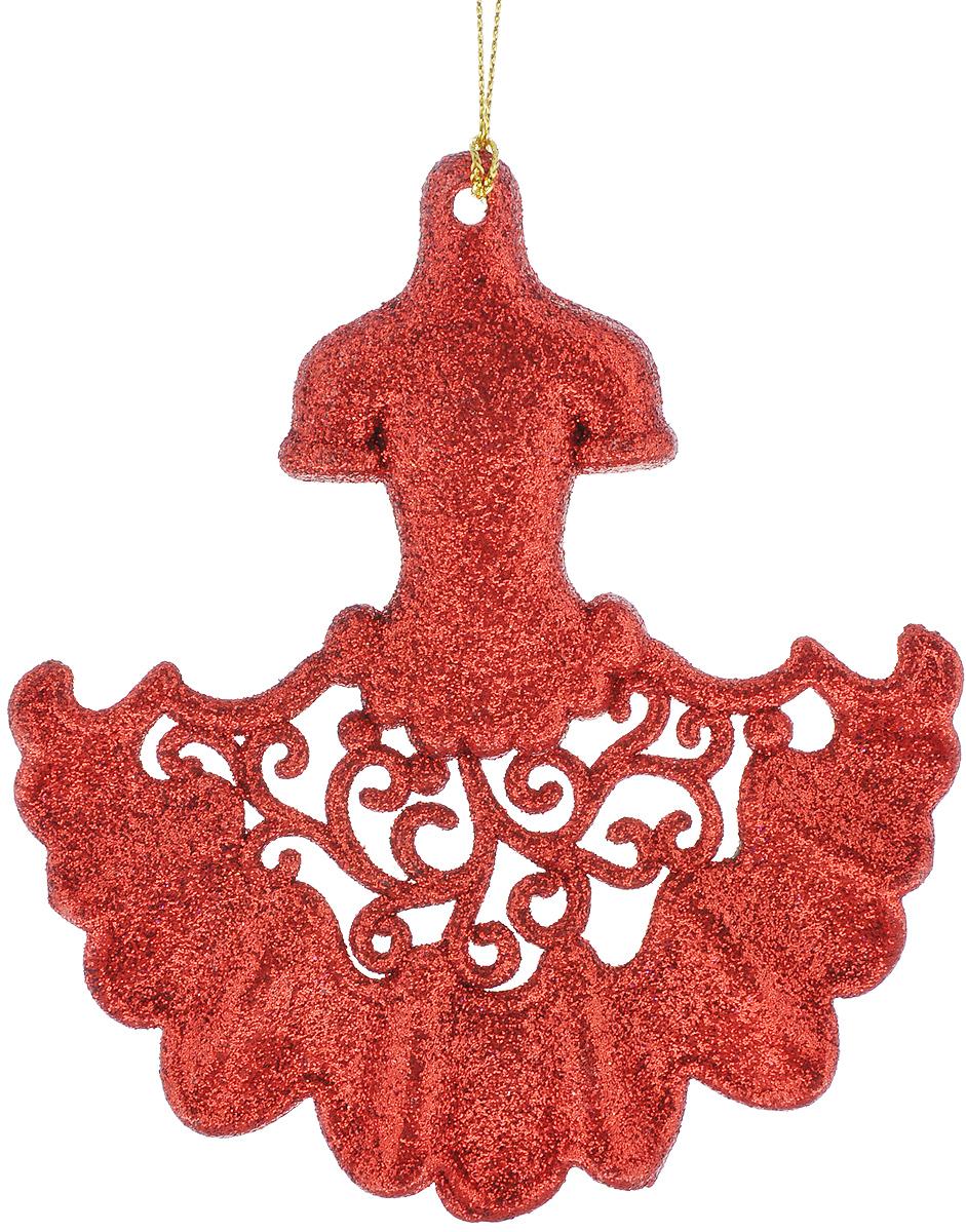 Новогоднее подвесное украшение Феникс-Презент Платье, цвет: красный38703Новогоднее украшение Феникс-Презент Платье, изготовленное из пластика, отлично подойдет для декорации вашего дома и новогодней ели. Украшение выполнено в виде платья с блестками и оснащено текстильной петелькой, с помощью которой его можно повесить в любом понравившемся вам месте. Елочная игрушка - символ Нового года. Она несет в себе волшебство и красоту праздника. Создайте в своем доме атмосферу веселья и радости, украшая всей семьей новогоднюю елку нарядными игрушками, которые будут из года в год накапливать теплоту воспоминаний.