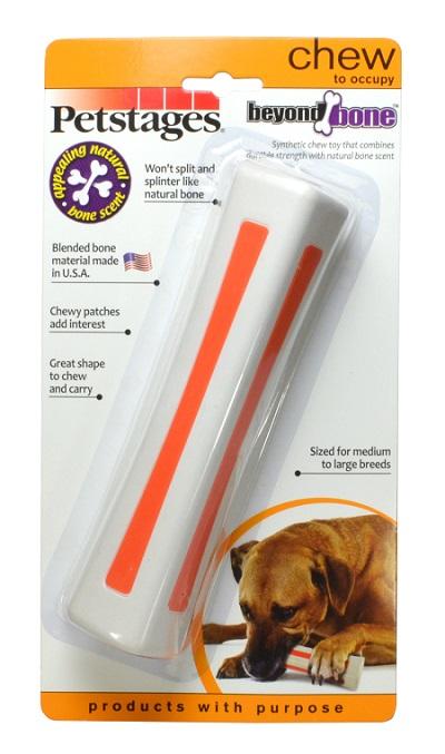 Игрушка Petstages Beyond Bone, для собак крупных пород, с ароматом косточки599STEXСочетает прочность синтетических материалов со вкусом и ароматом настоящей косточки. • В отличие от натуральных костей не разламывается и не образует острых краёв. • Материал игрушки произведён в США. • Жевательные вставки оранжевого цвета вызывают у собаки дополнительный интерес. • Отличное решение для собак, любящих грызть. • Подходит для игр в апорт. • Представлена в четырёх размерах: для карликовых, мелких, средних и крупных пород собак. Для жевания