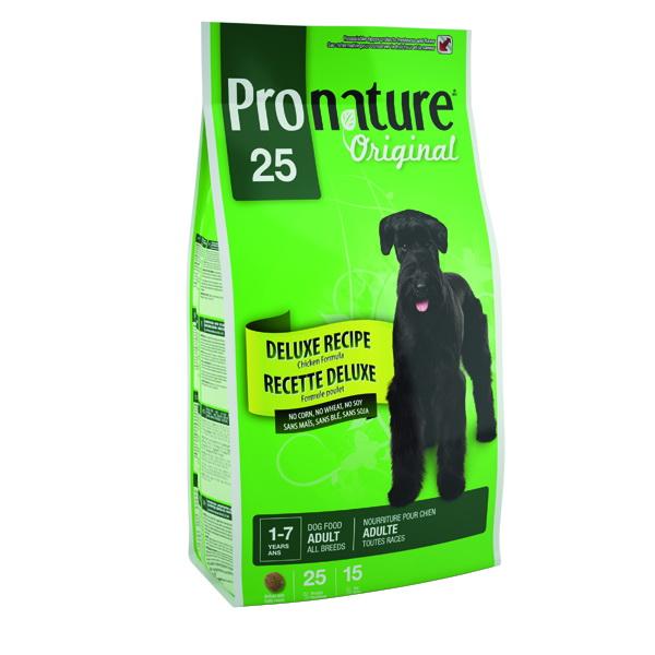 Pronature Original 25 Корм сухой для собак без сои, пшеницы, кукурузы 15кг30161В корме пшеница и кукуруза заменены рисом, ячменем и овсом. Они являются легко усвояемыми и хорошими источниками энергии. Условия хранения: в прохладном темном месте.