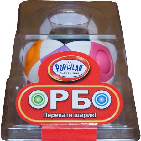 Popular Playthings Настольная игра ОрбоУТ100000128Головоломка Орбо – это абстрактная головоломка в виде белого шара с разноцветными шариками внутри. Она понравится как детям, так и взрослым. Ведь вы всегда можете уделить пару минут решению задачки, главное взять Орбо с собой. Задача - перекатить все шарики в отверстия соответствующего цвета. Для этого нужно просто проталкивать их вниз и в сторону в соседнее свободное отверстие. Все шарики на месте? Перемешайте их снова и дайте попробовать родным и друзьям! Отличное средство для снятия стресса!