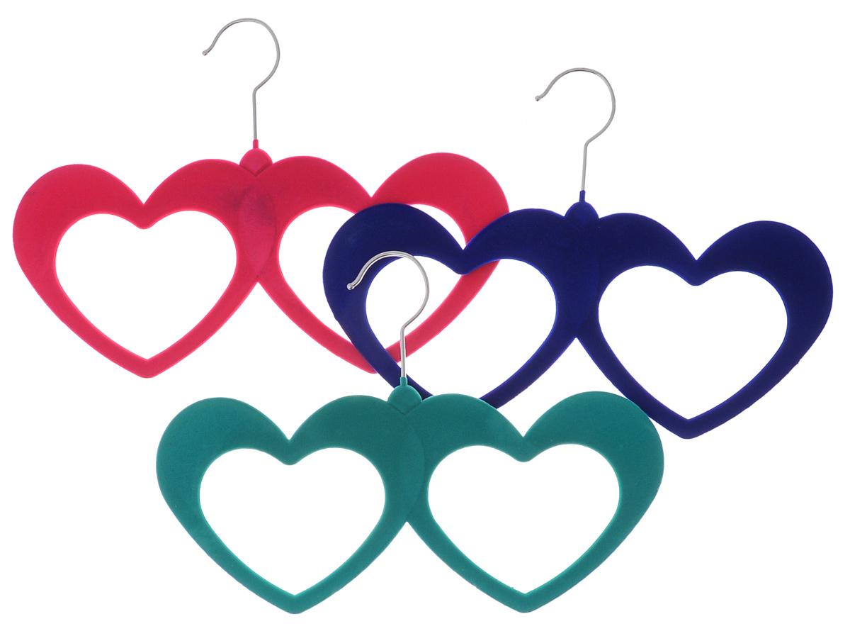 Набор вешалок для аксессуаров El Casa, цвет: зеленый, розовый, синий, 3 шт. 150045150045Набор разноцветных вешалок El Casa, изготовленный из пластика, имеет велюровое антискользящее покрытие. Благодаря легкому и прочному каркасу изделия идеально подходят для шарфов и платков. Вешалка - это незаменимая вещь для того, чтобы ваша одежда всегда оставалась в хорошем состоянии. Комплектация: 3 шт. Размер вешалки: 32 см х 0,5 см х 23 см.