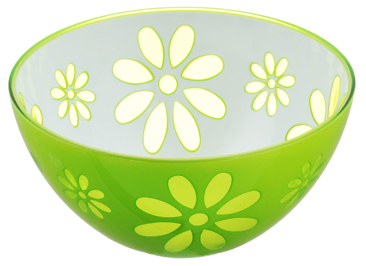 Салатник Альтернатива Соблазн, цвет: салатовый, белый, 500 млM2307Оригинальный салатник Альтернатива Соблазн, выполненный из высококачественного пластика, порадует вас изящным дизайном и практичностью. Внешние стенки салатника декорированы цветочным принтом. Изделие идеально подходит для сервировки салатов, фруктов, закусок и многого другого. Салатник Альтернатива Соблазн украсит ваш кухонный стол и подчеркнет прекрасный вкус хозяйки. Диаметр салатника (по верхнему краю): 14 см. Высота стенок: 6,5 см. Объем салатника: 500 мл.