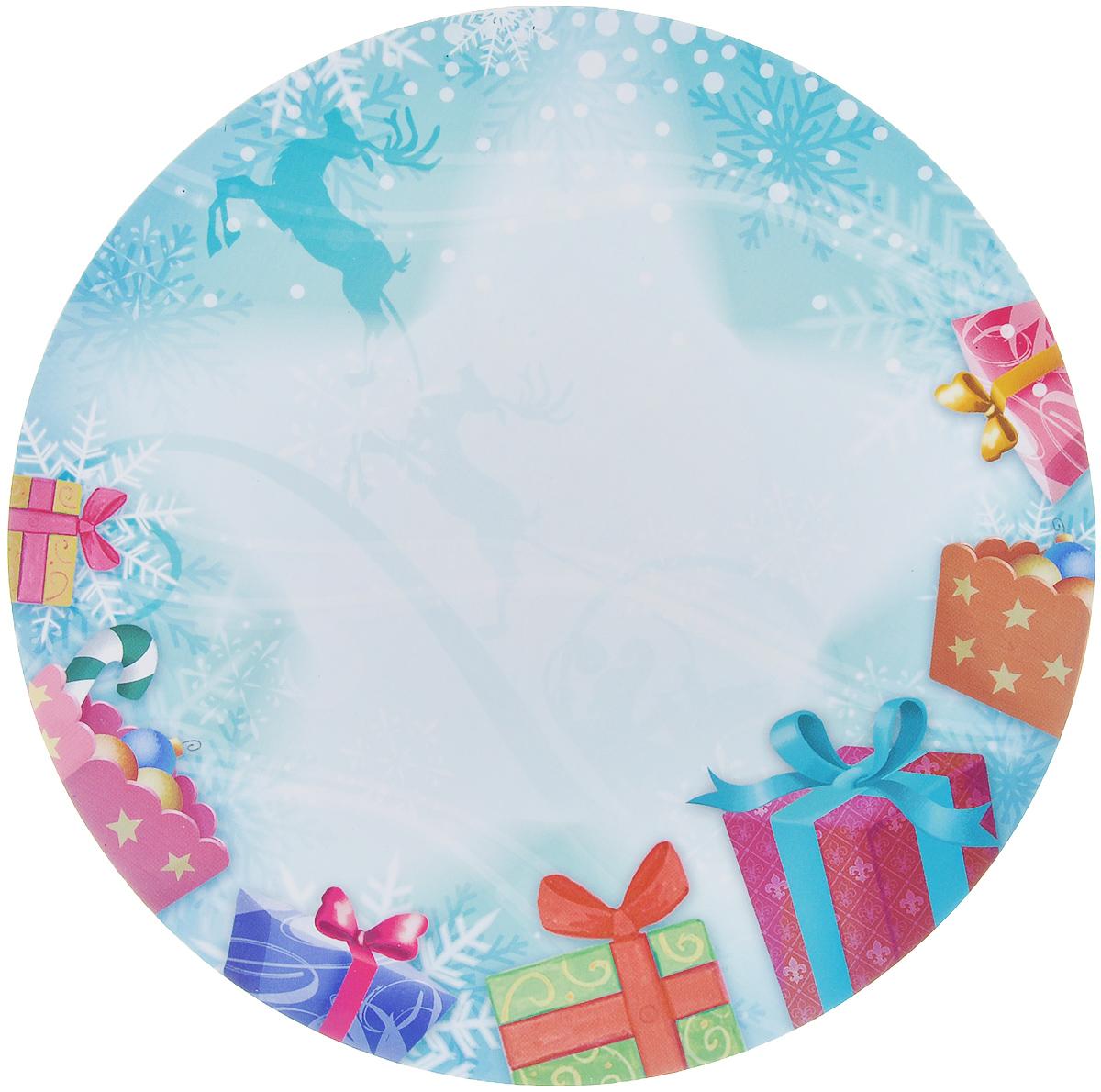 Магнит для записей Lunten Ranta Подарок. Олень, диаметр 16 см65907_оленьМагнит для записей Lunten Ranta Подарок. Олень, выполненный из ПВХ и бумаги, оформлен ярким изображением. На таком магните вы сможете написать оригинальное новогоднее поздравление и удивить ваших друзей и близких. Изделие отлично подойдет для декорирования домашнего интерьера, а так же станет приятным и необычным подарком. Диаметр: 16 см.