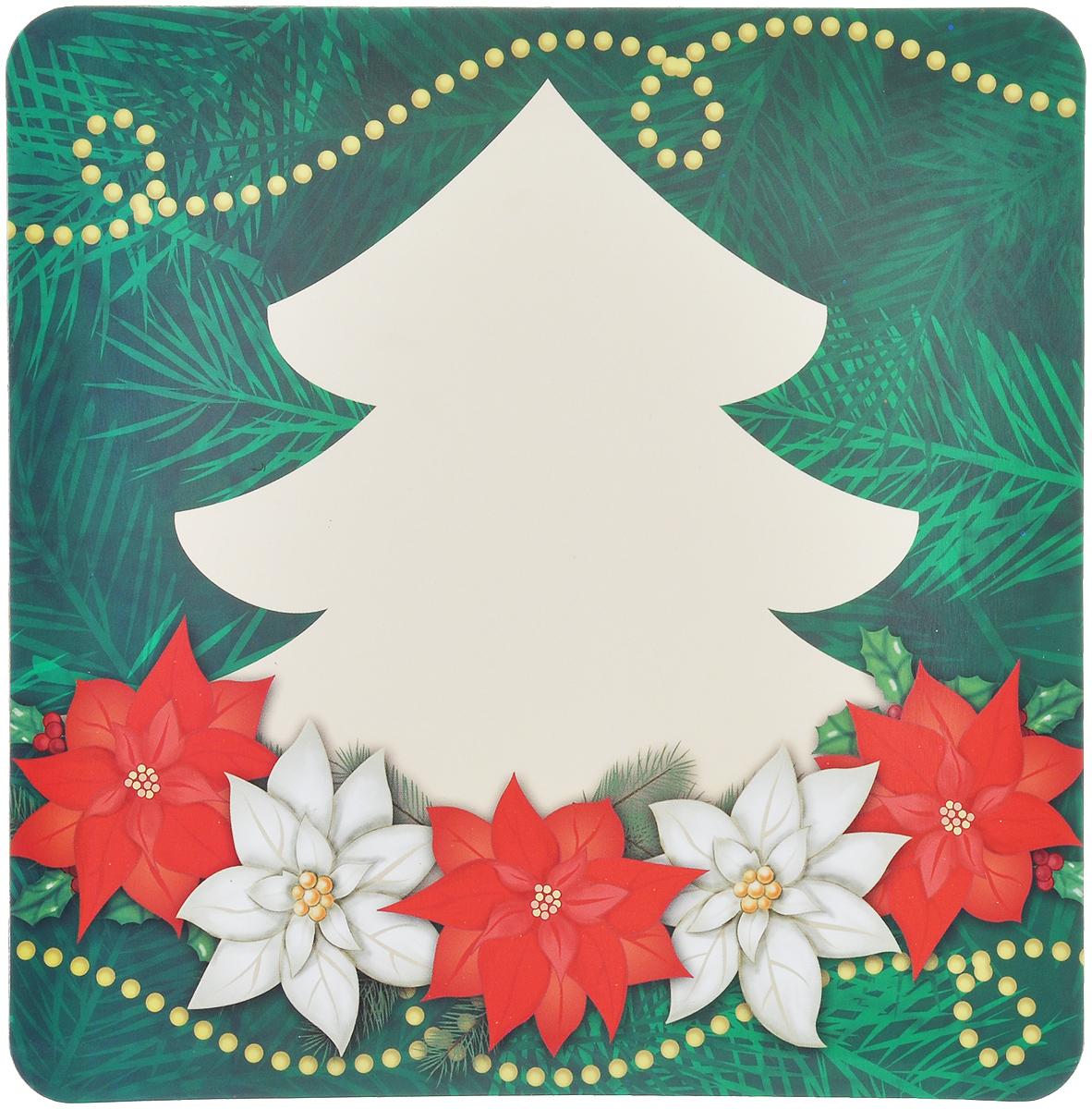 Магнит для записей Lunten Ranta Подарок. Ель и цветы, 16 см х 16 см65907_ель и цветыМагнит для записей Lunten Ranta Подарок. Ель и цветы, выполненный из ПВХ и бумаги, оформлен ярким изображением. На таком магните вы сможете написать оригинальное новогоднее поздравление и удивить ваших друзей и близких. Изделие отлично подойдет для декорирования домашнего интерьера, а так же станет приятным и необычным подарком.