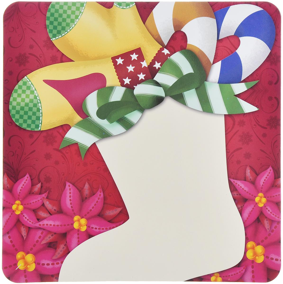 Магнит для записей Lunten Ranta Подарок. Носок для подарков, 16 см х 16 см65907_носок для подарковМагнит для записей Lunten Ranta Подарок. Носок для подарков, выполненный из ПВХ и бумаги, оформлен ярким изображением. На таком магните вы сможете написать оригинальное новогоднее поздравление и удивить ваших друзей и близких. Изделие отлично подойдет для декорирования домашнего интерьера, а так же станет приятным и необычным подарком.