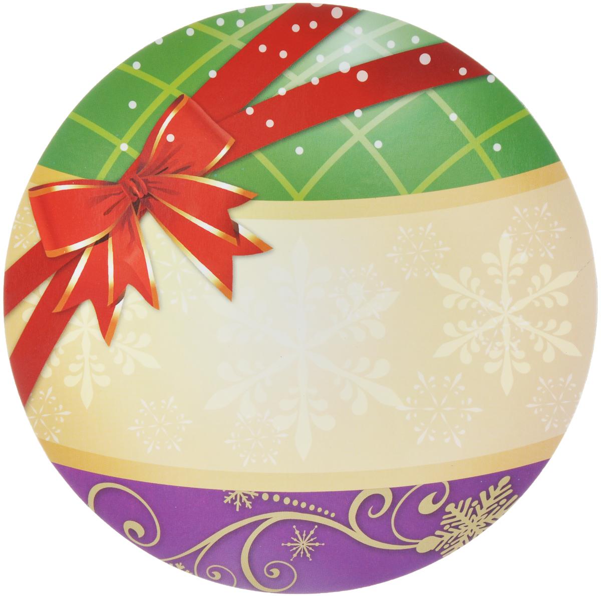 Магнит для записей Lunten Ranta Подарок. Шар, диаметр 16 см65907_шарМагнит для записей Lunten Ranta Подарок. Шар выполнен из ПВХ и оформлен ярким изображением. На таком магните вы сможете написать оригинальное новогоднее поздравление и удивить ваших друзей и близких. Изделие отлично подойдет для декорирования домашнего интерьера, а так же станет приятным и необычным подарком. Диаметр: 16 см.