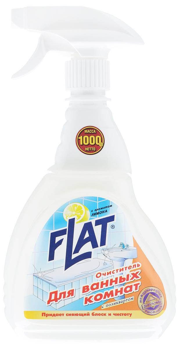 """Очиститель для ванных комнат """"Flat"""", с ароматом лимона, 1000 г 4600296 00241 0"""