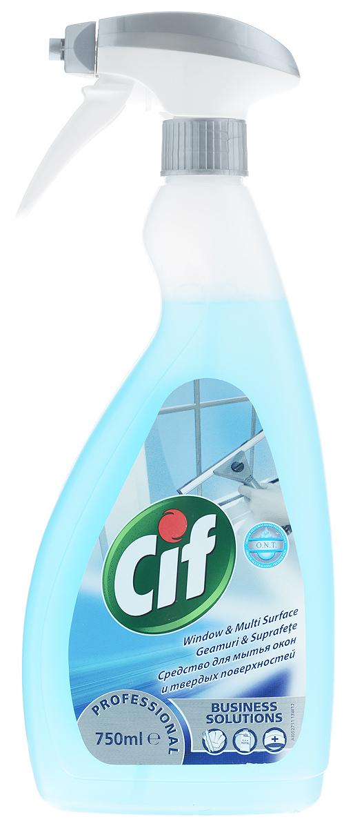 Чистящее средство для окон и поверхностей Cif Professional, 750 мл7518649Чистящее средство для окон и поверхностей Cif Professional предназначено для чистки стекол, зеркал, окон, столов и других твердых поверхностей. Оно удаляет въевшуюся грязь и жир, придает блеск и не оставляет разводы. А благодаря дозатору-распылителю быстро и равномерно распределяется по очищаемой поверхности. Состав: пропиленгликоль, n-бутиловый эфир. Товар сертифицирован.