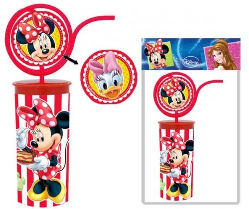 Disney Бокал с крышкой и трубочкой спининг Минни, 330 млRSL680M1VБокал пласт. 330 мл с крышкой и трубочкой спининг Минни, со стер. изобр + двухсторонняя варио* вставка из пищ., пласт. на трубочке , в пакете с блистером. Произведено по лицензии Walt Disney